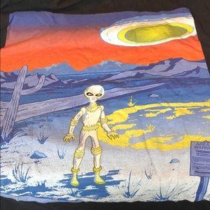 Area 51 t shirt black  aliens!!